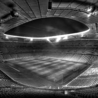 Allianz Arena - schwarz / weiss