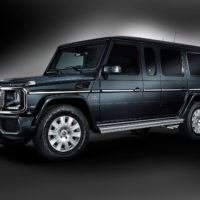 Alpha Armouring - Mercedes G-Model blau Sonderlack auf Grau