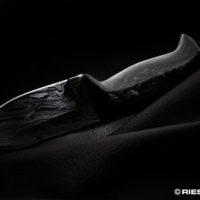 Messerklinge mit Carbongriff